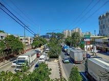 轻的交通在菲律宾 免版税库存照片