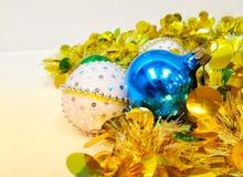 轻的圣诞树,新年好,拷贝空间 免版税库存图片