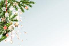 轻的圣诞节模板拷贝空间 皇族释放例证