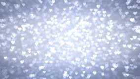 轻的心脏出现在光亮的背景 情人节假日摘要圈动画 皇族释放例证