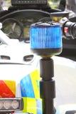 轻的摩托车警察 免版税图库摄影