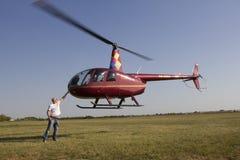 轻的直升机 库存图片
