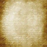 轻的羊皮纸字 免版税库存图片