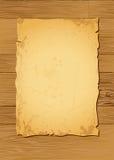 轻的羊皮纸木头 库存照片