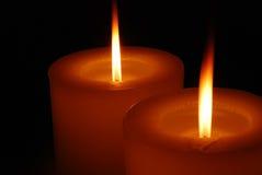 轻的蜡烛温暖 免版税图库摄影