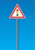 轻的路标业务量 向量例证