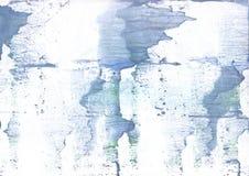 轻的钢青色手拉的水墨画背景 库存图片