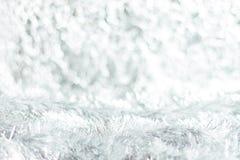 轻的银色圣诞节背景 库存图片