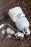 轻的bult和挽救电灯泡 库存图片