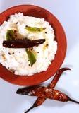 轻食物南印地安凝乳米 免版税库存照片