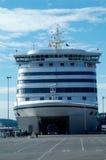 载汽车轮船挪威 免版税库存图片