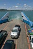 载汽车轮船泰国 库存照片