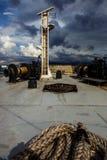 载汽车轮船甲板设备 库存图片