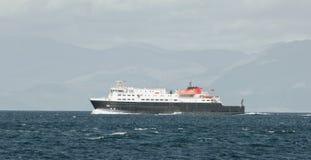 载汽车轮船苏格兰 库存照片