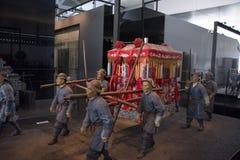 轿子在古老中国 免版税库存照片