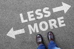 较少是更多企业概念决定最低纲领派投降bett 免版税库存照片