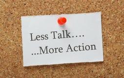 较少谈话更多行动 免版税库存照片