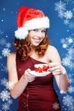 辅助工圣诞老人 免版税库存照片