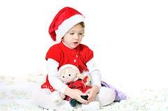 辅助工小圣诞老人 免版税库存照片