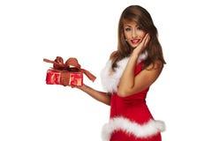 辅助工性感的圣诞老人 免版税库存图片