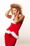 辅助工性感的圣诞老人 图库摄影