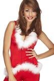 辅助工性感的圣诞老人 免版税库存照片
