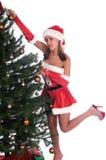 辅助工s性感的圣诞老人 免版税库存照片