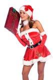 辅助工s性感的圣诞老人 图库摄影