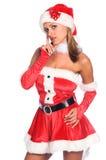 辅助工s性感的圣诞老人 免版税图库摄影