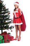 辅助工s性感的圣诞老人 库存图片