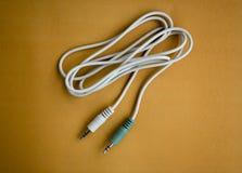 辅助插座音频立体声缆绳 图库摄影