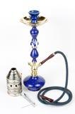辅助部件蓝色水烟筒 库存照片