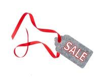 辅助部件方式销售额标签 礼物标记,隔绝在白色背景 免版税库存图片