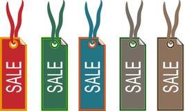辅助部件方式销售额标签 免版税库存照片