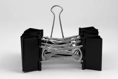 辅助部件背景黏合剂夹子查出办公室白色 免版税图库摄影