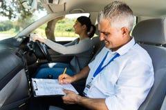辅导员测试学习者司机 库存照片