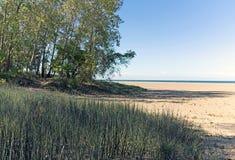 辅导者陆岬海滩和国家公园辅导者俄亥俄 库存照片