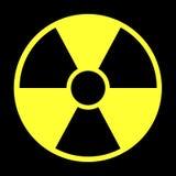 辐射警告 库存图片