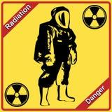 辐射诉讼-符号辐射。 危险。 免版税库存图片