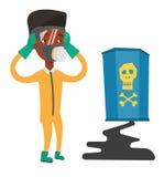辐射防护套服的人 库存例证