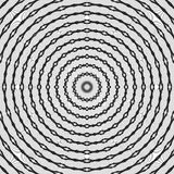 辐形地被排列的规则黑白卷曲的样式 半音线圆环例证 抽象背景分数维 库存照片