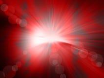 辐形抽象红色背景 库存例证