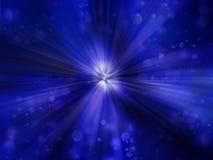 辐形抽象蓝色背景 皇族释放例证