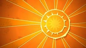 辐形阳光圈 库存例证