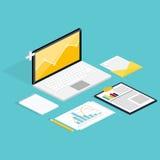 逻辑分析方法过程网与claptop和发展网站st的 免版税图库摄影