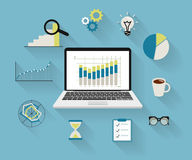 逻辑分析方法过程 免版税库存图片