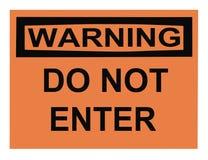 输入不是符号警告 免版税库存图片
