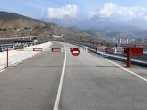 输入不是高速公路现代符号 免版税库存照片