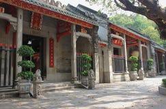 输入到林Fung寺庙(莲花寺庙)在澳门 免版税库存照片