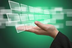输入接口屏幕技术 库存例证